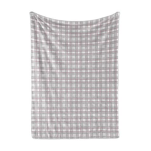 Personalized light blanket - Mauve plaid III