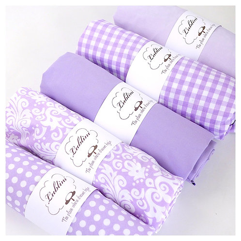 Crib fitted sheet - lavender