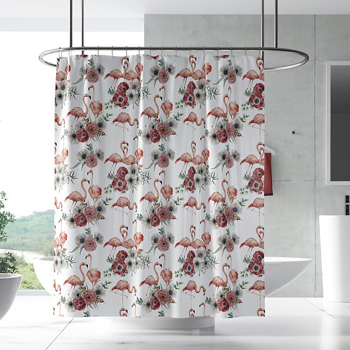 Shower curtain - Flamingo poppy