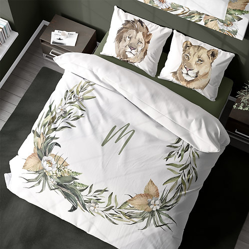 Personalized duvet cover - Out of Africa Wreath