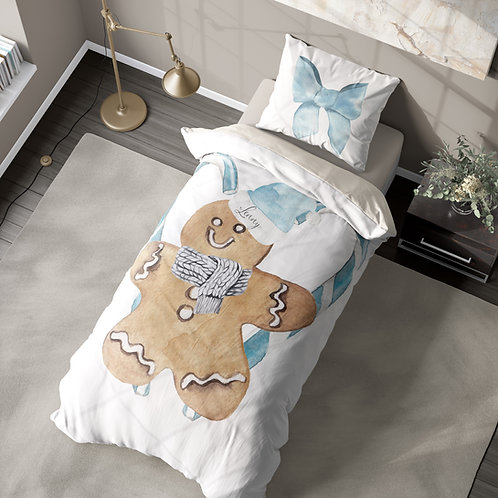 Personalized duvet cover - Giant Gingerbread Man