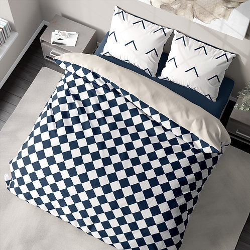 Duvet cover - Checkered pattern