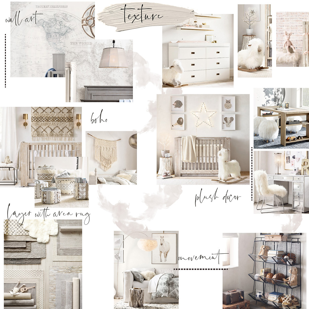 Images resource RH   ~ we love RH and will often use their room decor (baskets, plush animals, wall art etc.) in our own photoshoots.