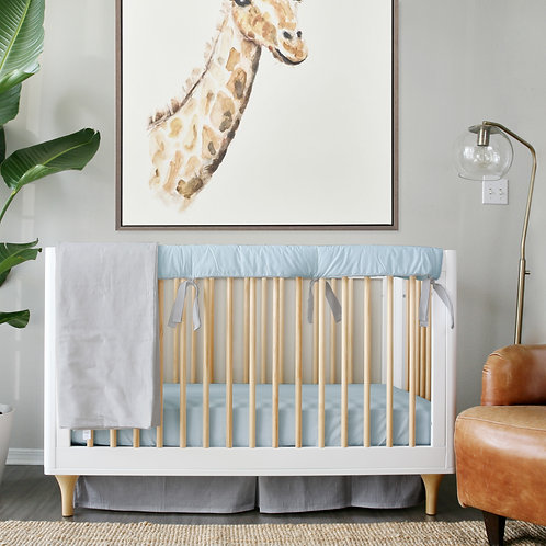 Crib 3pc set - blue