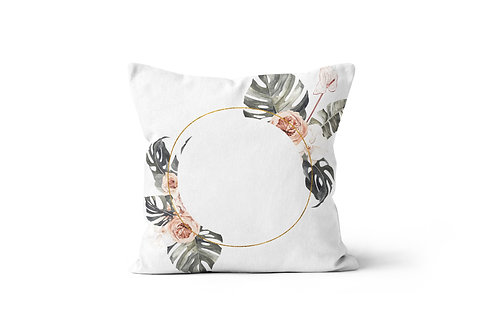 Personalized Monstera B Throw Pillow