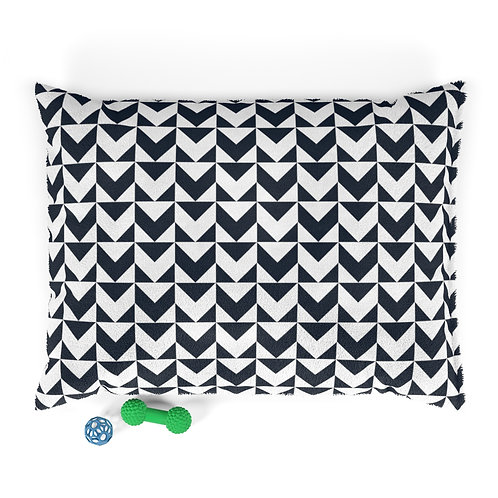 Personalized Pet bed - Navy geometric arrows