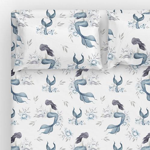Italian cotton Sheet Set - Mermaid Tail