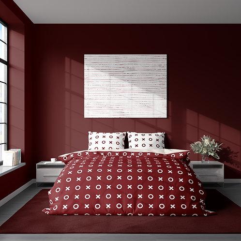 Duvet cover - Red patterns