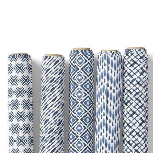 Fabric by the yard - Indigo Shibori