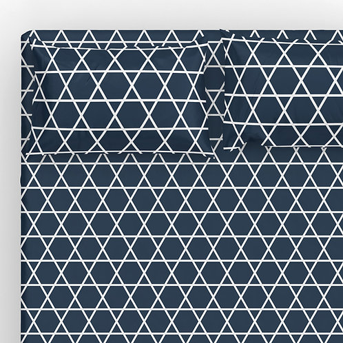 Italian cotton Sheet Set - Hanukkah David Star 3