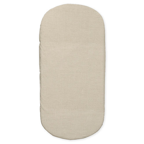 Oval crib fitted sheet - linen
