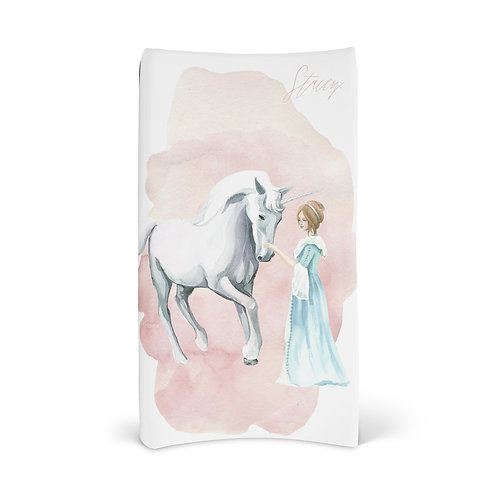 Personalized Changing Pad Cover - Enchanted Princess Unicorn