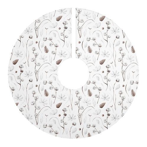 Christmas Tree Skirt - Botanical pattern