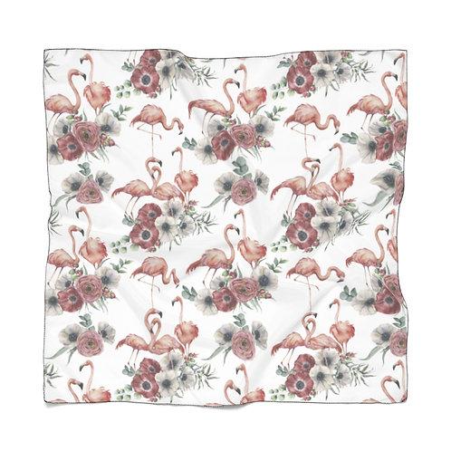 Light Sheer Scarf - Flamingo poppy