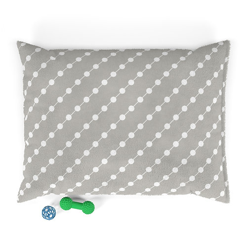 Personalized Pet bed - Neutral beads