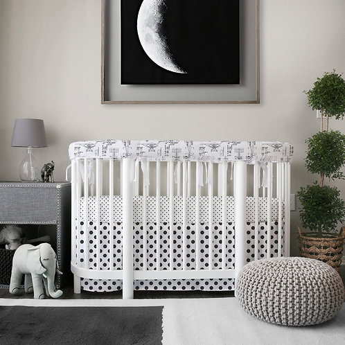 Stokke sleepi 3pc rail guard set - black & white