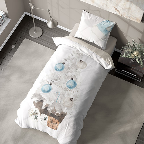 Personalized duvet cover - White Xmas