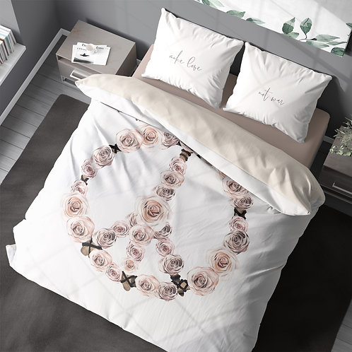 Personalized duvet cover - Boho Peace Sign