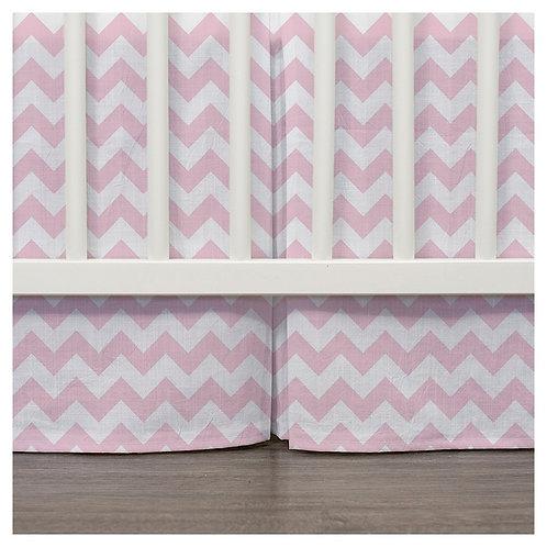 crib skirt - pink