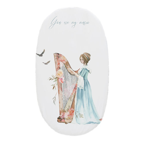 Personalized oval fitted sheet - Harp