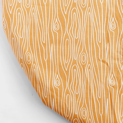Clearance oval fitted sheet - Orange bark