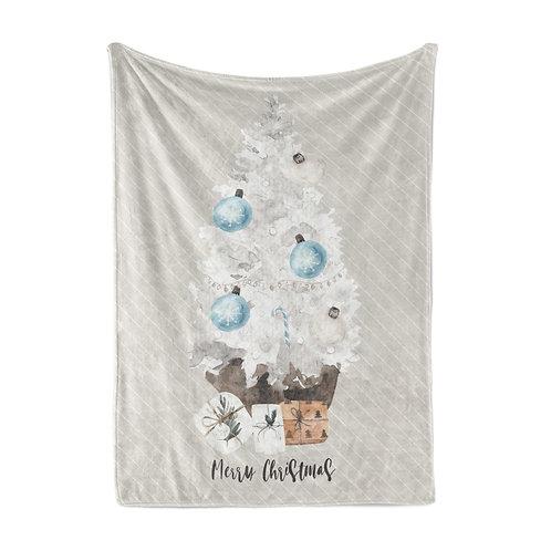 Personalized light blanket - Xmas tree