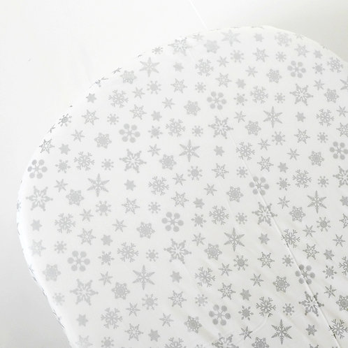 oval crib sheet - silver