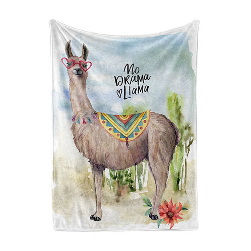 Personalized light blanket - llama no drama