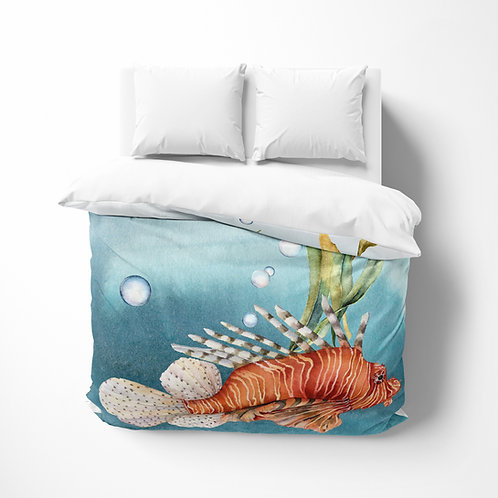 Personalized comforter - Ocean Lionfish