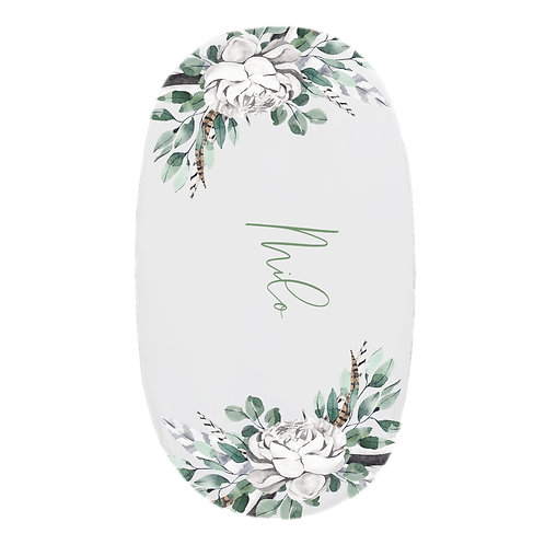 Personalized oval fitted sheet - boho corners