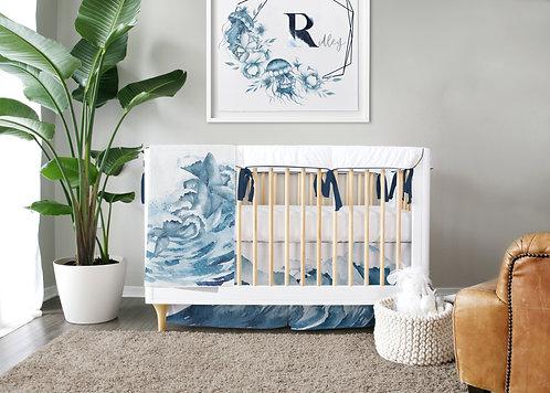 DYO - Custom 3pc Crib Set - Mermaid