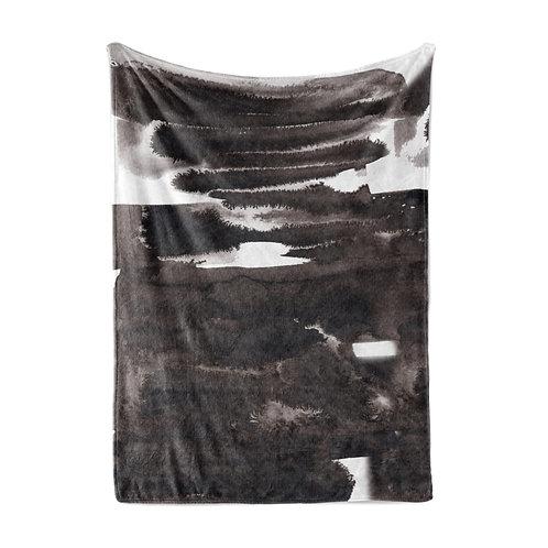 Personalized Light Blanket - Fine art black gradient ombre