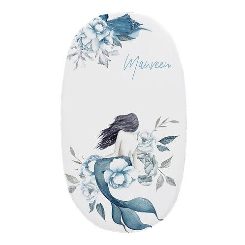 Personalized oval fitted sheet - Secret Mermaid