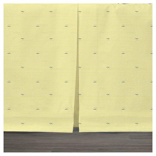 bed skirt - gray & yellow