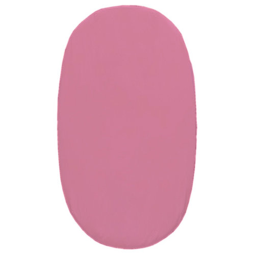 Oval crib fitted sheet - pink