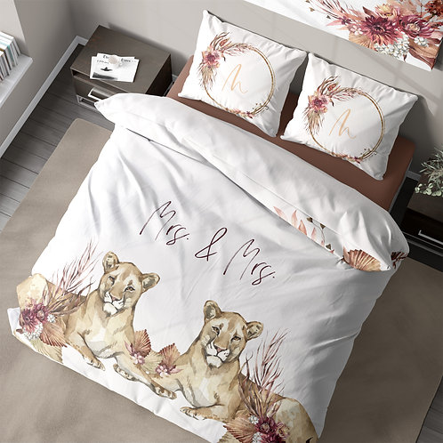Personalized duvet cover - Out of Africa Lioness