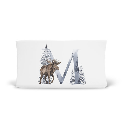 Personalized Changing Pad - Winter Monogram