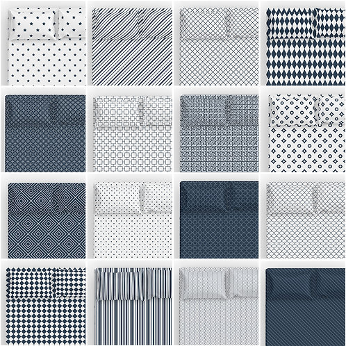 Italian Cotton Sheet Set - patterns