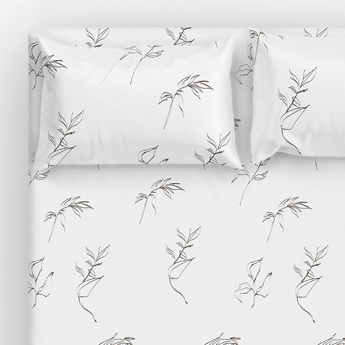 Italian cotton Sheet Set - fine art I