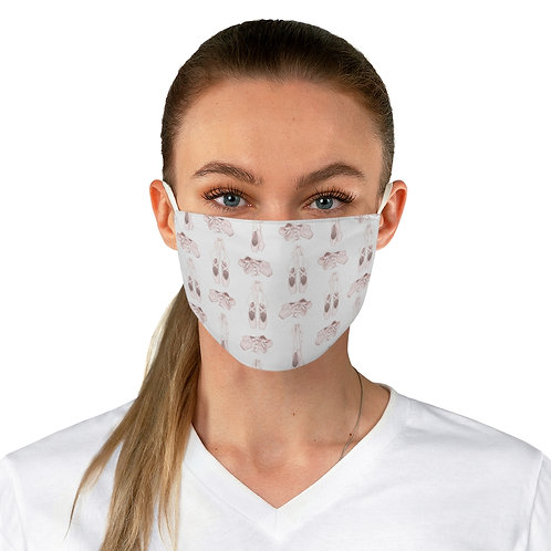 Fabric Face Mask - Ballet Slippers