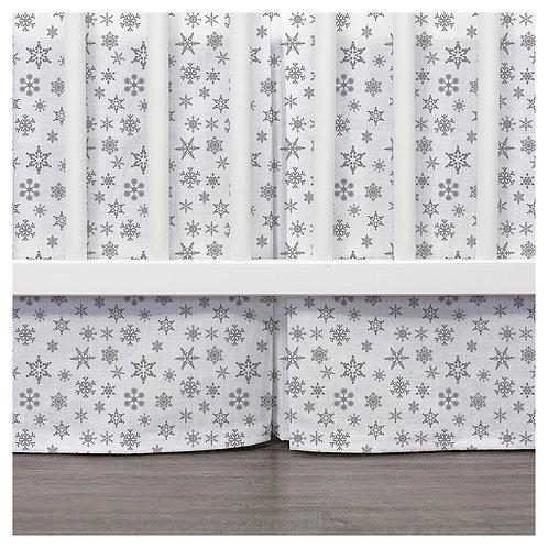 Crib skirt - silver