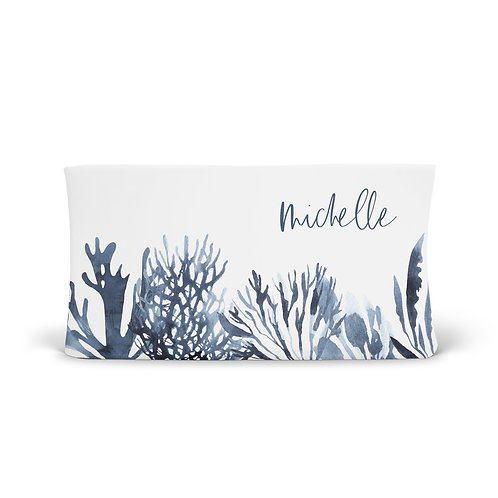 Personalized Changing Pad - Ocean coral