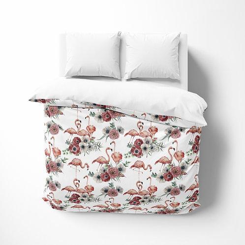 Personalized comforter - Flamingo Poppy
