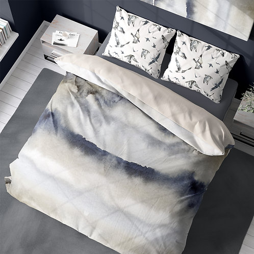 Duvet cover - Iceland watercolor #5