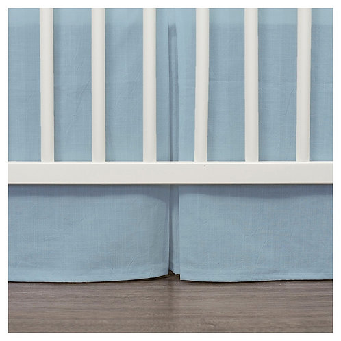 Crib skirt - blue