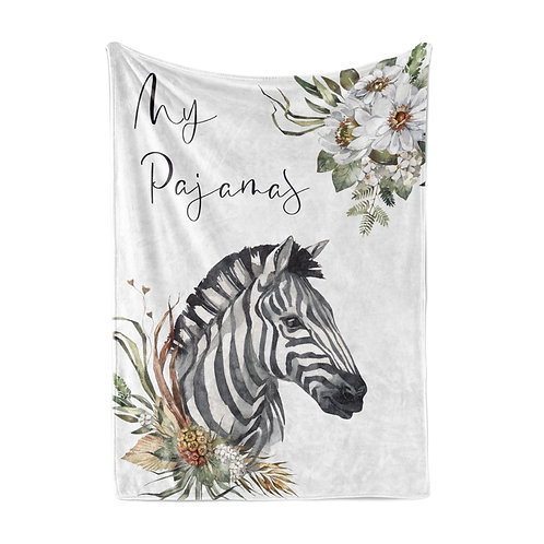 Personalized light blanket - Zebra