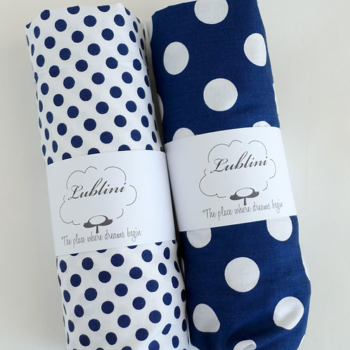 crib fitted sheet - polkadots