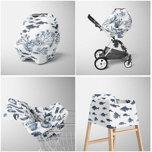 Nursery Cover - Neptune patterns
