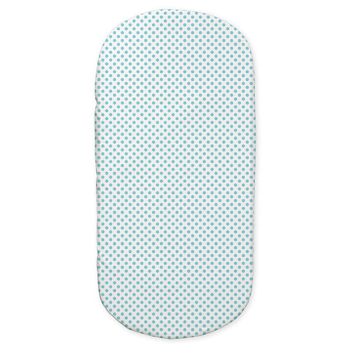 oval crib fitted sheet - aqua
