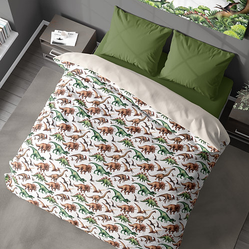 Personalized duvet cover - Dinosaurs